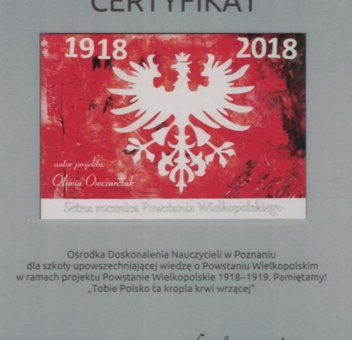 Finał Wojewódzkiego Konkursu Wiedzy o Powstaniu Wielkopolskim