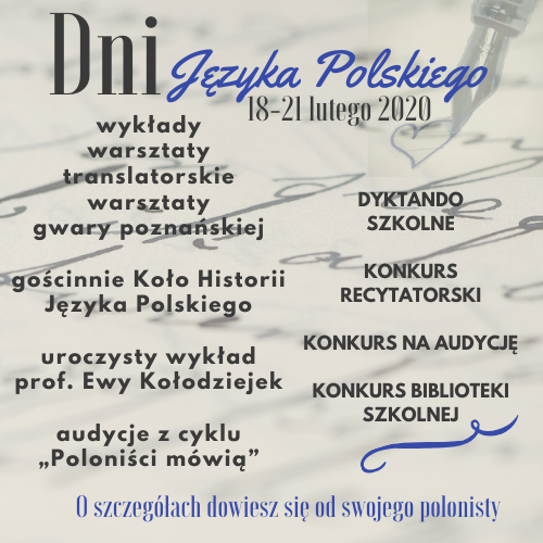 Dni Języka Polskiego 2020