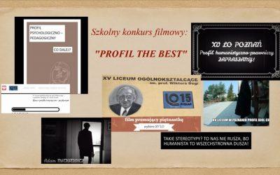 """Szkolny konkurs filmowy: """"PROFIL THE BEST"""""""